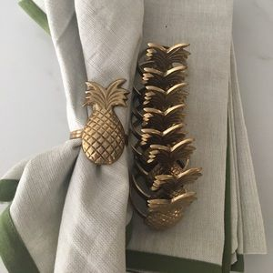 Other - PINAPPLE Vintage Brass Napkin Rings